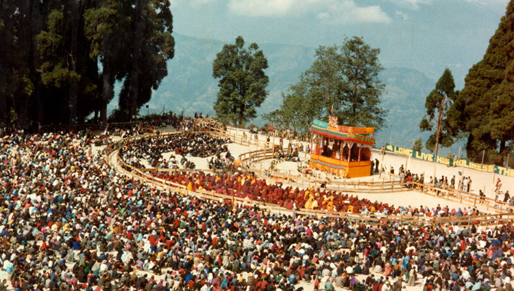The teaching ground for the 17th Kalachakra Empowerment in Gangtok, Sikkim, India in April of 1993 (Photo/OHHDL)